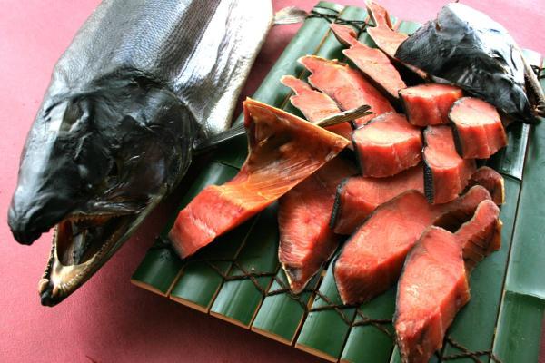 鮭の町村上が誇る逸品「塩引鮭」のイメージ