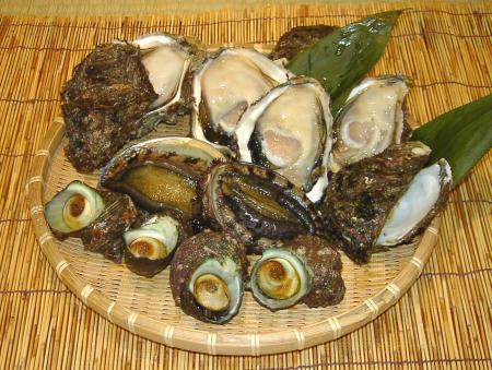 笹川流れの貝