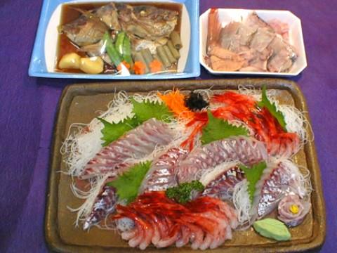 天然真鯛とあまえびの盛り合わせ